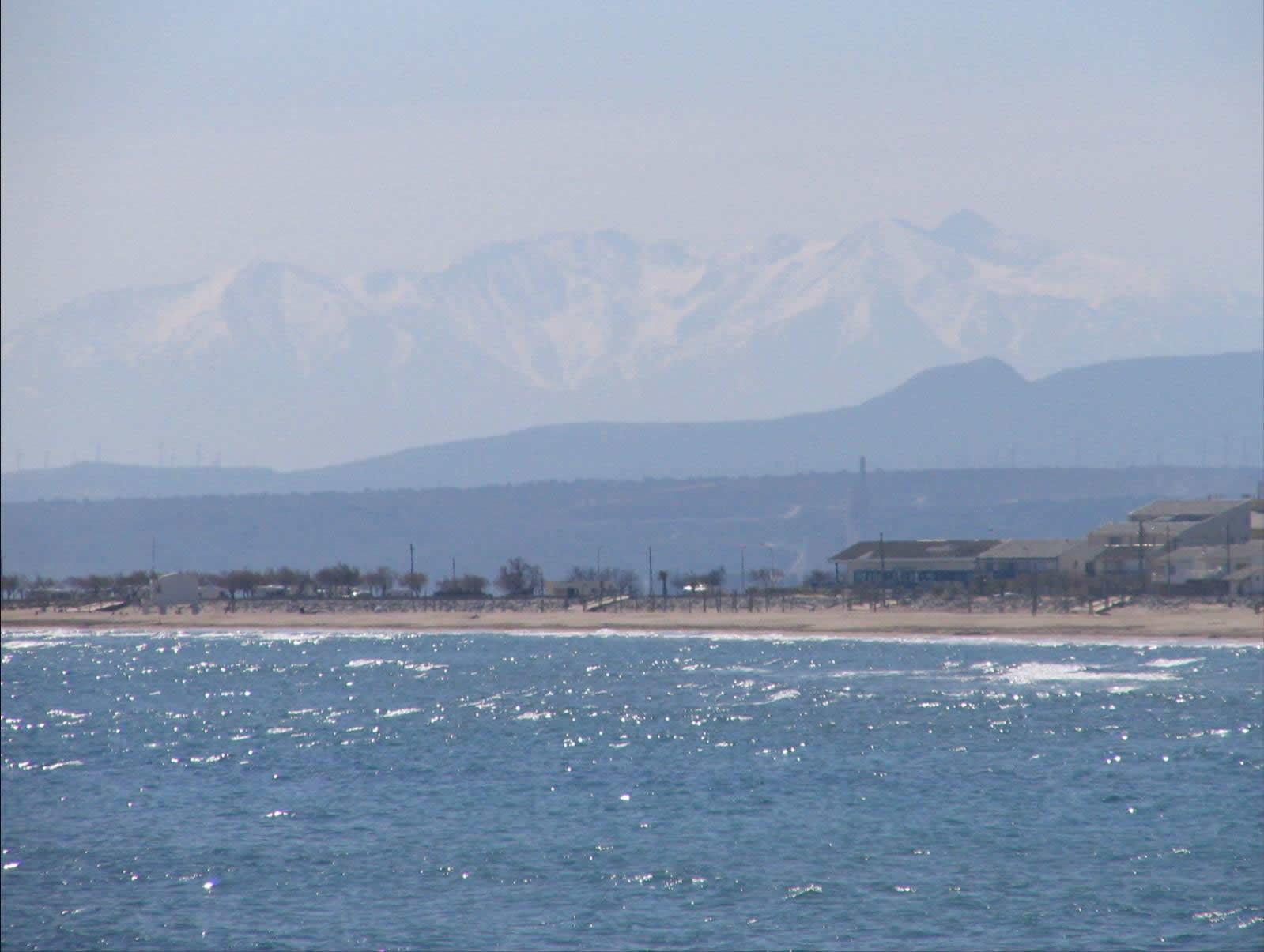 the Pyrenees from Gruissan Plage