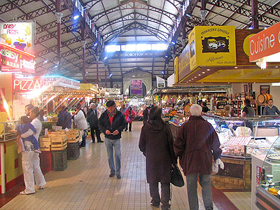 Inside Les Halles market, Narbonne.  Copyright Marlane O'Neill 2009.   All rights reserved