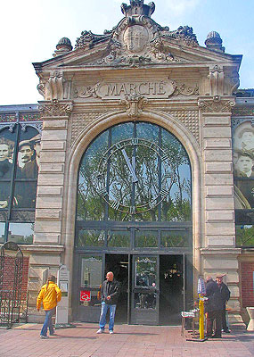 Lovely entrance to Les Halles indoor market, Narbonne.  Copyright Marlane O'Neill 2009.   All rights reserved